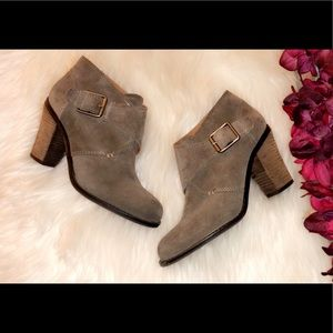 "LUCKY BRAND ""Mickie"" Suede Ankle Bootie"